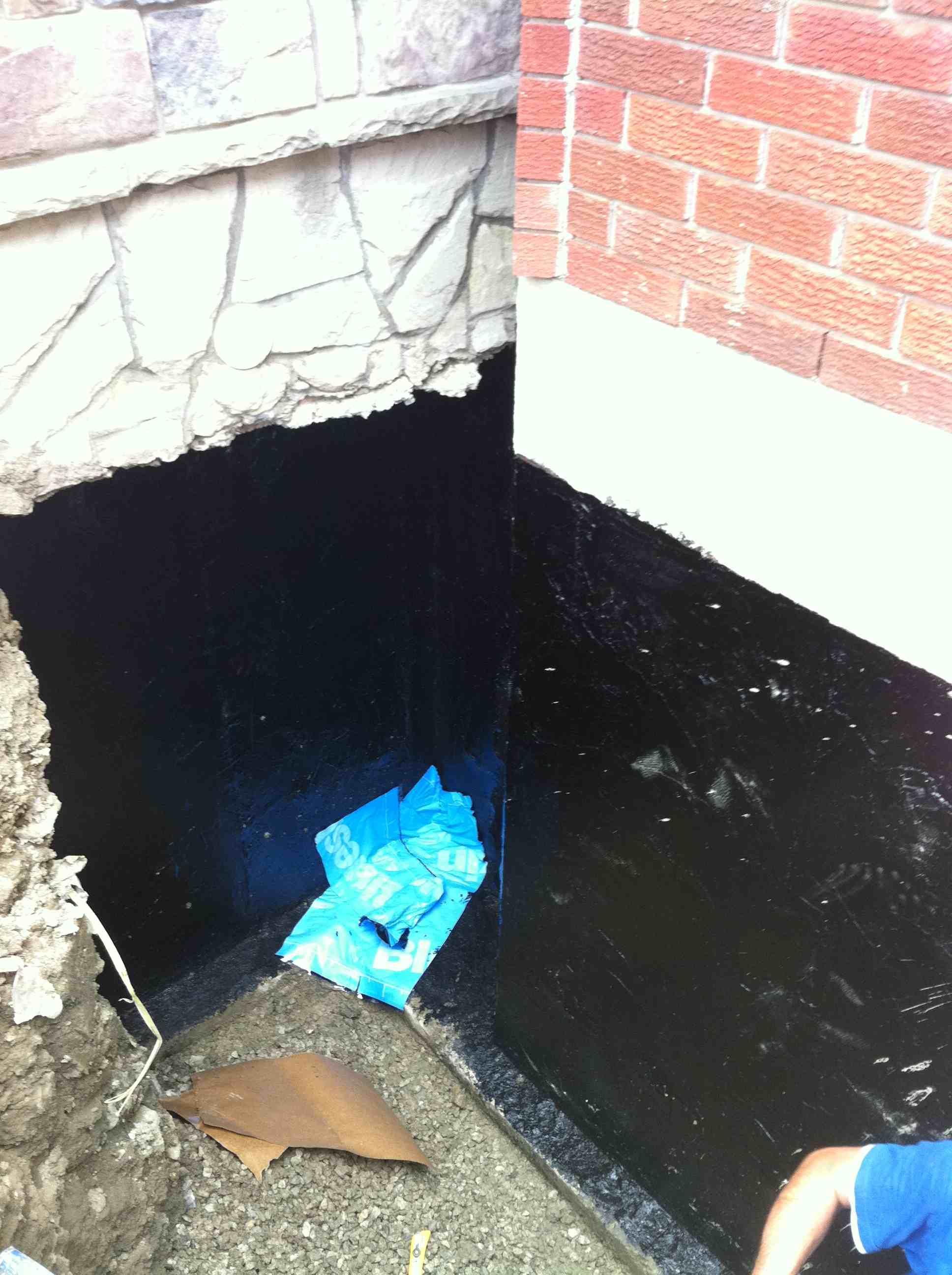 Waterproofing drainrooter plumbing Exterior basement waterproofing